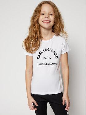 KARL LAGERFELD KARL LAGERFELD T-shirt Z15259 S Blanc Regular Fit