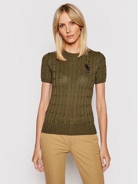 Polo Ralph Lauren Polo Ralph Lauren Sweter 211839006002 Zielony Slim Fit