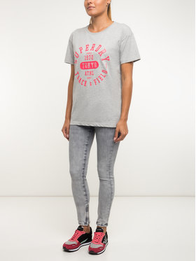 Superdry Superdry T-Shirt W1000054A Szary Regular Fit