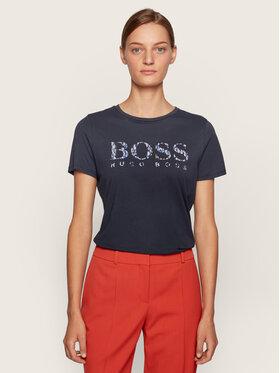 Boss Boss Tricou C_Elogo_Ecom 50443073 Bleumarin Regular Fit