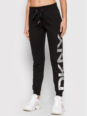 DKNY Sport DKNY Sport Teplákové kalhoty DP1P1251 Černá Regular Fit