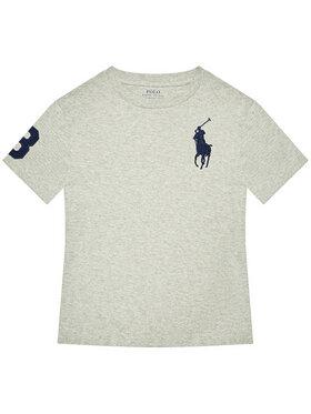 Polo Ralph Lauren Polo Ralph Lauren Marškinėliai Ss Cn 323832907021 Pilka Regular Fit