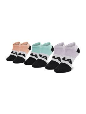 Fila Fila Комплект 3 чифта къси чорапи дамски Calza F6919 Зелен