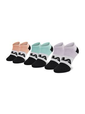 Fila Fila Sada 3 párů dámských vysokých ponožek Calza F6919 Zelená