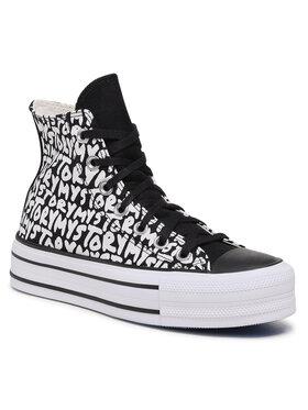 Converse Converse Sneakers aus Stoff Cts Double Stack Lift Hi 570321C Schwarz