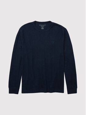 American Eagle American Eagle Тениска с дълъг ръкав 017-2171-1528 Тъмносин Standard Fit