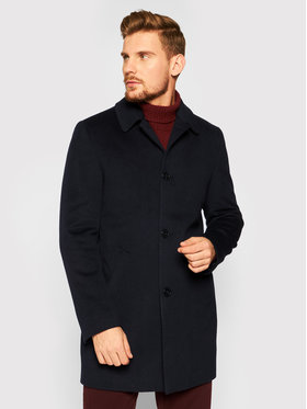 Roy Robson Roy Robson Cappotto di lana 3980-98 Blu scuro Slim Fit