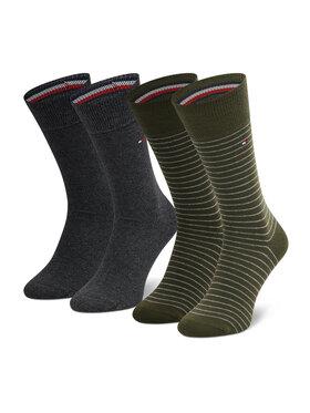 Tommy Hilfiger Tommy Hilfiger Set od 2 para ženskih visokih čarapa 100001496 Zelena