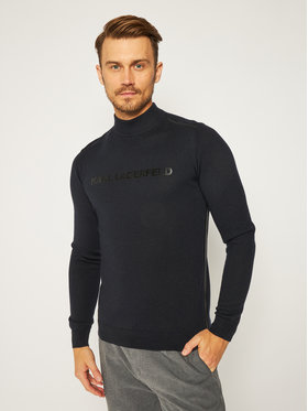 KARL LAGERFELD KARL LAGERFELD Sweter Turtleneck 655012 502399 Granatowy Regular Fit