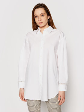 Tommy Hilfiger Tommy Hilfiger Camicia Abo Lace WW0WW32659 Bianco Relaxed Fit