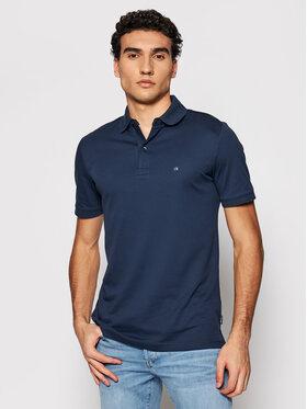 Calvin Klein Calvin Klein Тениска с яка и копчета Liquid Touch K10K107090 Тъмносин Slim Fit