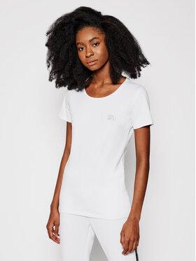 Liu Jo Sport Liu Jo Sport T-Shirt TA1092 J5003 Biały Slim Fit