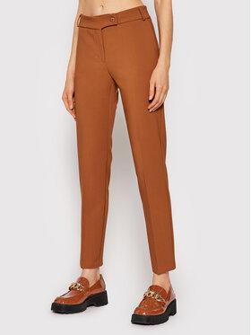 Rinascimento Rinascimento Текстилни панталони CFC0105037003 Кафяв Slim Fit