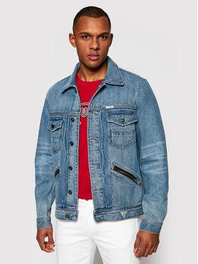 Guess Guess Kurtka jeansowa Dillon M1GXN1 R48K0 Niebieski Regular Fit