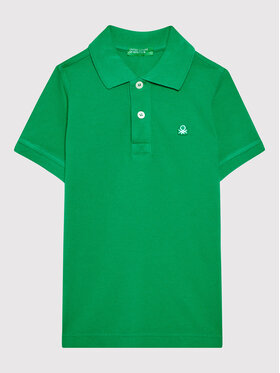 United Colors Of Benetton United Colors Of Benetton Polo 3089C3091 Zielony Regular Fit