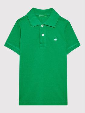 United Colors Of Benetton United Colors Of Benetton Polo marškinėliai 3089C3091 Žalia Regular Fit