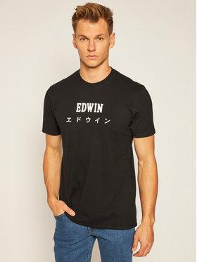 Edwin Edwin T-Shirt Japan I025018 TF08J94 8967 Černá Regular Fit