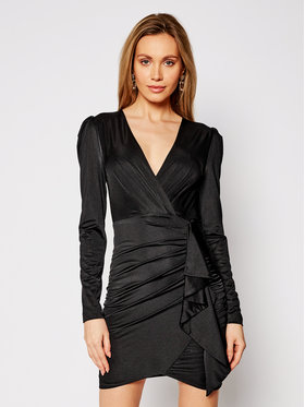 Guess Guess Robe de cocktail W1GK0A K4JZ0 Noir Slim Fit