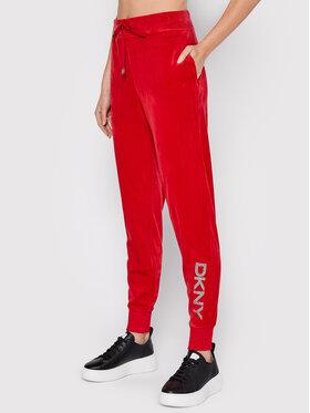 DKNY DKNY Spodnie dresowe P1MRQJ56 Czerwony Regular Fit