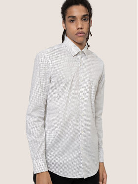 Hugo Hugo Marškiniai Kenno 50438015 Balta Slim Fit