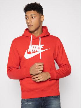 Nike Nike Felpa Nsw Club BV2973 Rosso Standard Fit