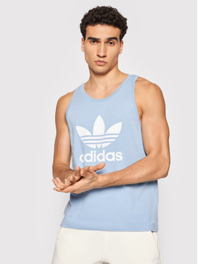 adidas adidas Tank top marškinėliai adicolor Classics Trefoil H06635 Mėlyna Regular Fit