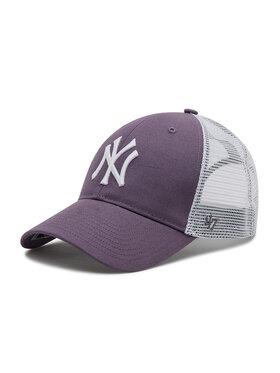 47 Brand 47 Brand Czapka z daszkiem Ny Yankees Branson Trucker B-FLGSH17GWP-II Fioletowy