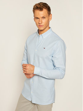 Tommy Jeans Tommy Jeans Hemd Tjm Stretch Oxford DM0DM06562 Blau Slim Fit