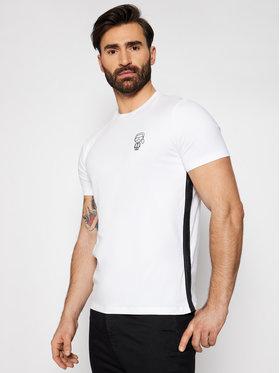 KARL LAGERFELD KARL LAGERFELD T-Shirt Crewneck 755024 511221 Biały Slim Fit