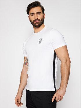 KARL LAGERFELD KARL LAGERFELD T-Shirt Crewneck 755024 511221 Bílá Slim Fit