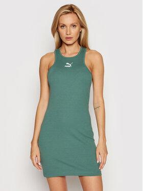 Puma Puma Každodenné šaty Classics Summer 599591 Zelená Regular Fit