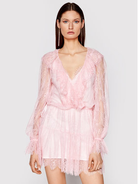 Ermanno Firenze Ermanno Firenze Коктейлна рокля AB33PIZ Розов Regular Fit