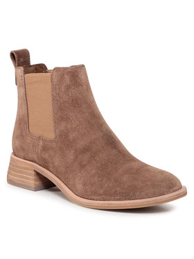 Tory Burch Tory Burch Kotníková obuv s elastickým prvkem Casual 35Mm Chelsea Bootie 75477 Hnědá
