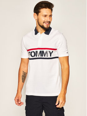 Tommy Jeans Tommy Jeans Polo Bold Graphic DM0DM07779 Blanc Regular Fit