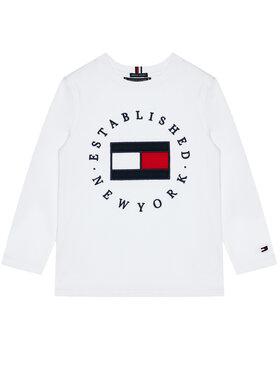 TOMMY HILFIGER TOMMY HILFIGER Bluzka Heritage Logo Tee KB0KB06102 D Biały Regular Fit