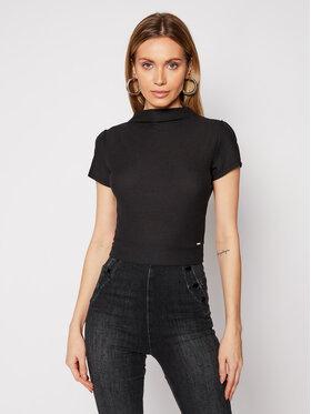Guess Guess Bluză Ss Holly W1GP17 KANJ0 Negru Slim Fit