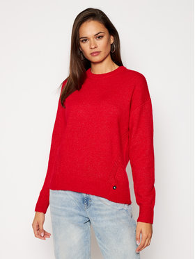 Calvin Klein Jeans Calvin Klein Jeans Sweter J20J214823 Czerwony Relaxed Fit