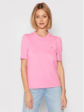 Tommy Jeans Tommy Jeans Póló Ruffled DW0DW09775 Rózsaszín Slim Fit