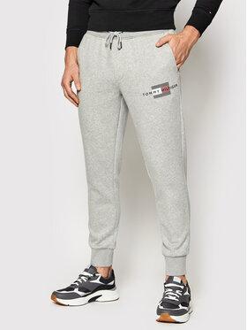 Tommy Hilfiger Tommy Hilfiger Pantalon jogging Lines MW0MW20953 Gris Regular Fit