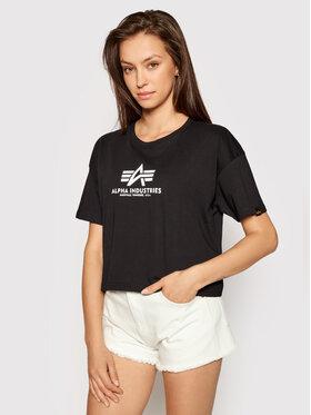 Alpha Industries Alpha Industries T-shirt Basic T Cos 116050 Crna Oversize