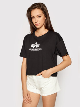 Alpha Industries Alpha Industries T-Shirt Basic T Cos 116050 Czarny Oversize