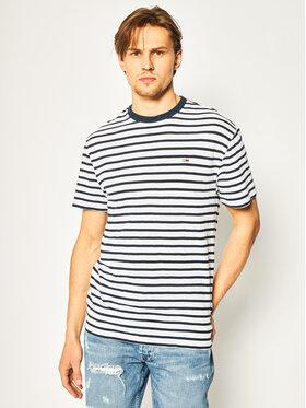 Tommy Jeans Tommy Jeans T-Shirt Tommy Stripe Tee DM0DM07808 Tmavomodrá Regular Fit