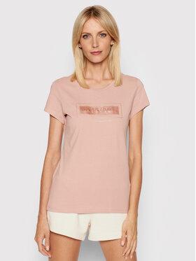 4F 4F T-Shirt H4L21-TSD034 Różowy Regular Fit