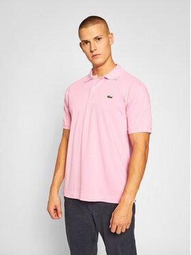 Lacoste Lacoste Тениска с яка и копчета L1212 Розов Classic Fit