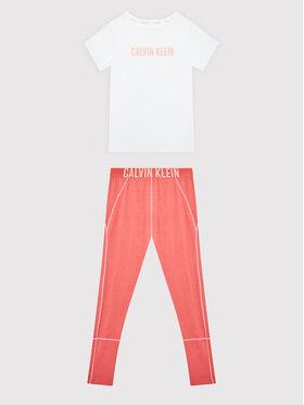 Calvin Klein Underwear Calvin Klein Underwear Piżama Knit Pj Set G80G800491 Biały Regular Fit
