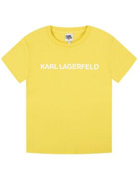 KARL LAGERFELD KARL LAGERFELD T-shirt Z15222 M Jaune Regular Fit