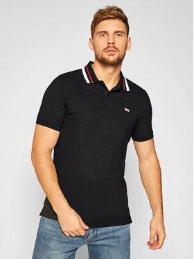 Tommy Jeans Tommy Jeans Тениска с яка и копчета Classics Tipped DM0DM09440 Черен Slim Fit