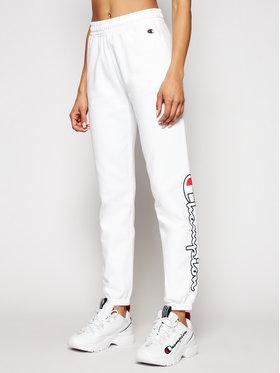 Champion Champion Spodnie dresowe 112644 Biały Custom Fit