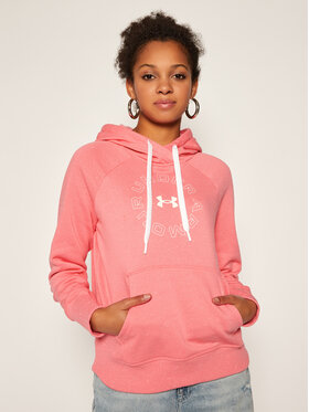 Under Armour Under Armour Mikina Ua Rival Fleece Metallic Hoodie 1356323 Růžová Loose Fit