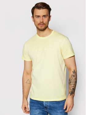 Pepe Jeans Pepe Jeans T-Shirt West Sir PM504032 Gelb Regular Fit